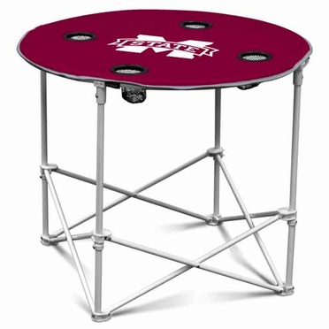 Mississippi State Round Tailgate Table