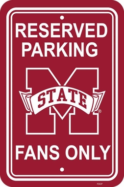 Mississippi State Plastic Parking Sign (P)