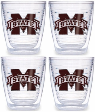 Mississippi State Set of FOUR 12 oz. Tervis Tumblers