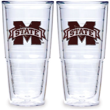 Mississippi State Set of TWO 24 oz. Tervis Tumblers