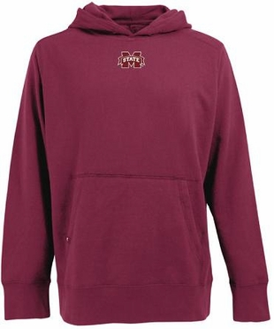 Mississippi State Mens Signature Hooded Sweatshirt (Team Color: Maroon)