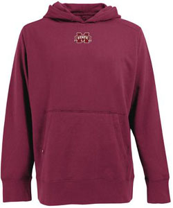 Mississippi State Mens Signature Hooded Sweatshirt (Color: Maroon) - Small