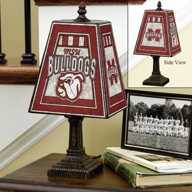 Mississippi State Small Art Glass Lamp