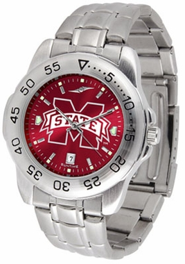 Mississippi State Sport Anonized Men's Steel Band Watch