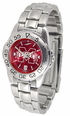 Mississippi State Sport Anonized Women's Steel Band Watch