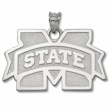 Mississippi State Sterling Silver Pendant