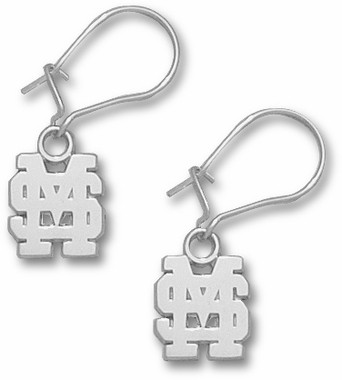 Mississippi State Sterling Silver Post or Dangle Earrings