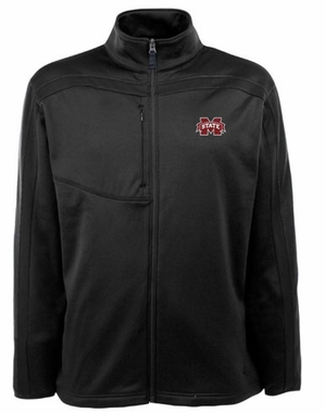 Mississippi State Mens Viper Full Zip Performance Jacket (Team Color: Black)