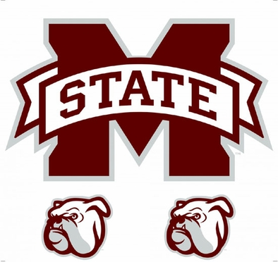 Mississippi State Wallmarx Large Wall Decal