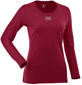 Mississippi State Womens Relax Long Sleeve Tee (Team Color: Maroon) - Medium