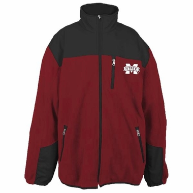 Mississippi State YOUTH Dobby Full Zip Polar Fleece Jacket