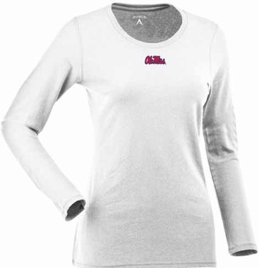 Mississippi Womens Relax Long Sleeve Tee (Color: White)