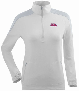 Mississippi Womens Succeed 1/4 Zip Performance Pullover (Color: White)