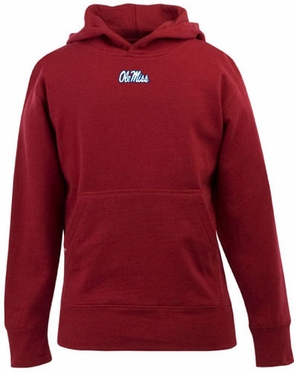 Mississippi YOUTH Boys Signature Hooded Sweatshirt (Team Color: Red)