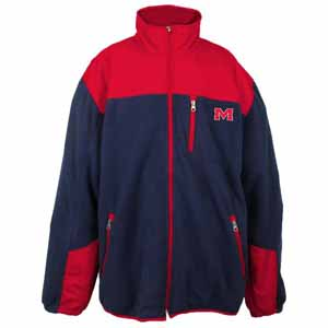 Mississippi YOUTH Dobby Full Zip Polar Fleece Jacket - X-Large