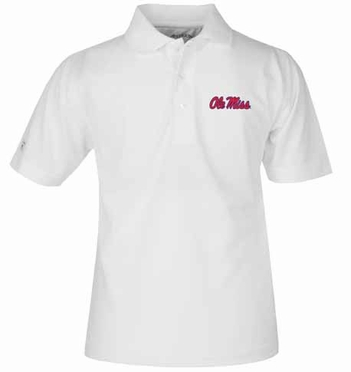 Mississippi YOUTH Unisex Pique Polo Shirt (Color: White)