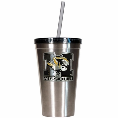 Missouri 16oz Stainless Steel Insulated Tumbler with Straw