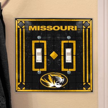 Missouri Art Glass Lightswitch Cover (Double)