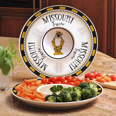 Missouri Ceramic Chip and Dip Plate