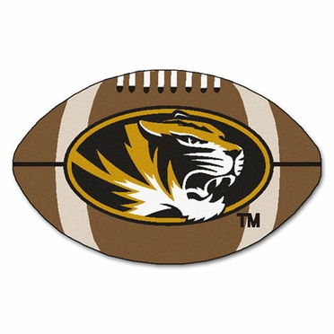 Missouri Football Shaped Rug