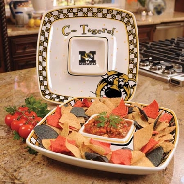 Missouri Gameday Ceramic Chip and Dip Platter