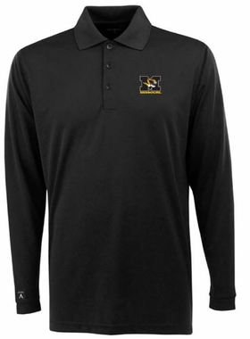 Missouri Mens Long Sleeve Polo Shirt (Color: Black)