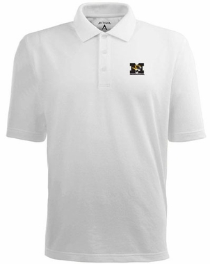 Missouri Mens Pique Xtra Lite Polo Shirt (Color: White)