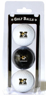 Missouri Set of 3 Multicolor Golf Balls