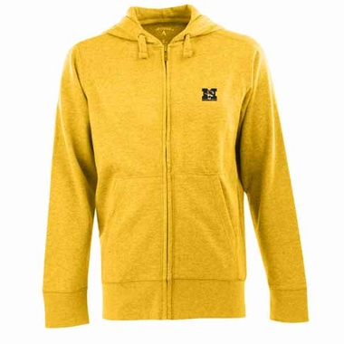 Missouri Mens Signature Full Zip Hooded Sweatshirt (Alternate Color: Gold)