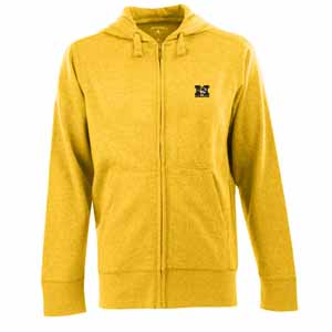Missouri Mens Signature Full Zip Hooded Sweatshirt (Alternate Color: Gold) - Small