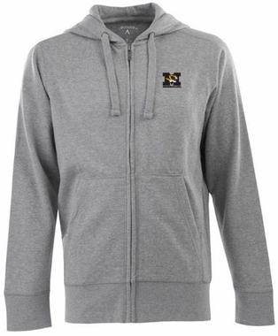 Missouri Mens Signature Full Zip Hooded Sweatshirt (Color: Gray)