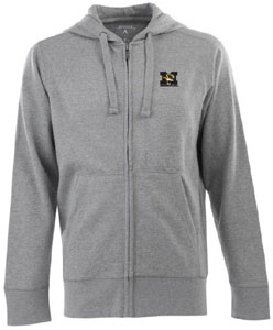 Missouri Mens Signature Full Zip Hooded Sweatshirt (Color: Gray) - Medium