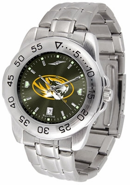 Missouri Sport Anonized Men's Steel Band Watch