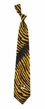 Missouri Tiger Stripe Silk Necktie