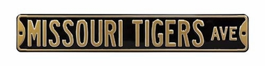 Missouri Tigers Ave Black Street Sign