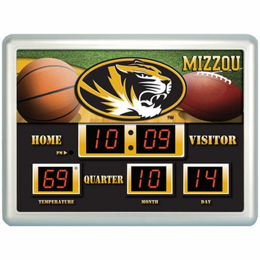 Missouri Time / Date / Temp. Scoreboard