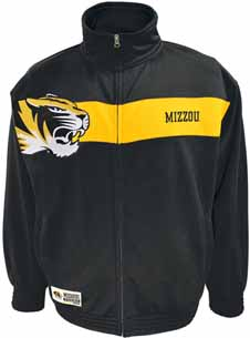 Missouri Victory March Full Zip Colorblocked Track Jacket - Large
