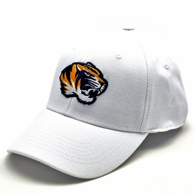 Missouri White Premium FlexFit Baseball Hat
