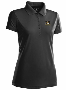Missouri Womens Pique Xtra Lite Polo Shirt (Color: Black)