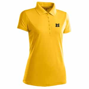 Missouri Womens Pique Xtra Lite Polo Shirt (Color: Gold) - X-Large