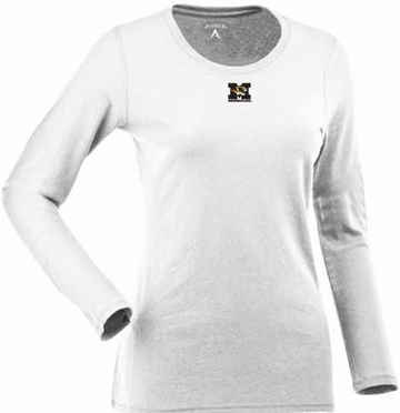 Missouri Womens Relax Long Sleeve Tee (Color: White)