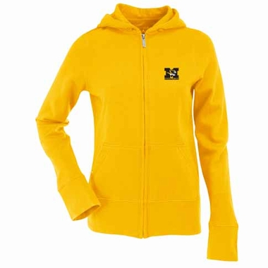 Missouri Womens Zip Front Hoody Sweatshirt (Color: Gold)