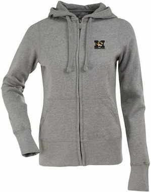 Missouri Womens Zip Front Hoody Sweatshirt (Color: Gray)