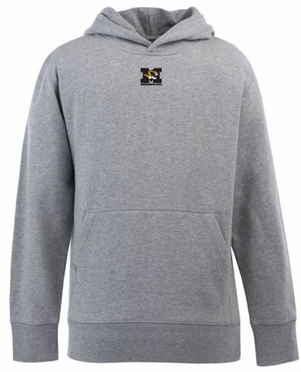 Missouri YOUTH Boys Signature Hooded Sweatshirt (Color: Gray)