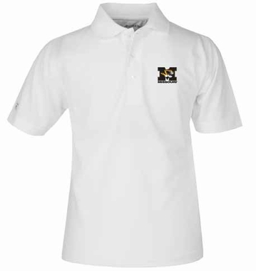 Missouri YOUTH Unisex Pique Polo Shirt (Color: White)