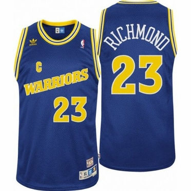 Mitch Richmond Golden State Warriors Adidas Throwback Blue Swingman Jersey