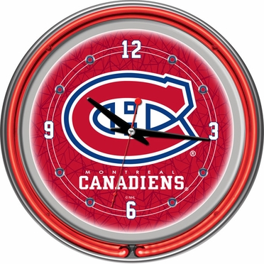 Montreal Canadiens 14 Inch Neon Clock