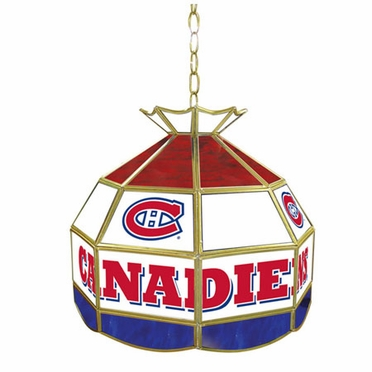Montreal Canadiens 16 Inch Diameter Stained Glass Pub Light
