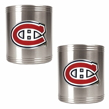 Montreal Canadiens 2 Can Holder Set