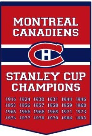 "Montreal Canadiens 24""x36"" Dynasty Wool Banner"